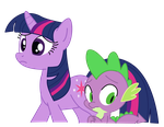 Twilight and Spike by PaulyVectors
