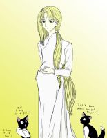 Rari, Pregnant Hisui, and Hari by Yuna-Bishie-Lover