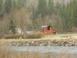 Barn On The Banks by Skribbles2