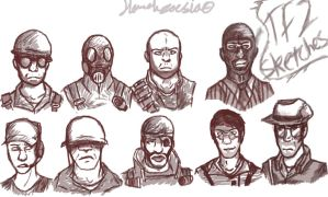 ~Team Fortress 2 - Sketches~ by Sniperisawesome