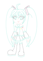 Miku color lineart by MikariStar
