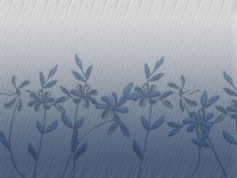 Blue Crackle Flowers by AllStock