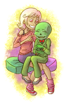 Roxy and Calliope by Liralicia