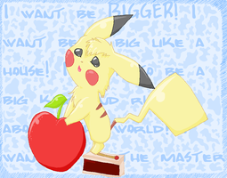 Pikachu wants to be BIGGER by Psunna