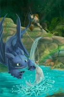 Dragons Like Fish by kGoggles