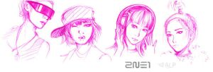 2NE1 by tenshi-no-pocky