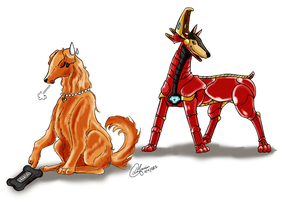 Iron Dog and Pepper Pups by Mangacide