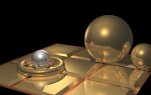 Gold and Silver raytraced objects by mcsoftware