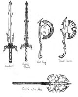 Two-Handed Swords and Axes by Saldarax