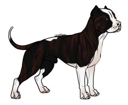 ReverseBrindlePittie : SOLD by OpticalColors