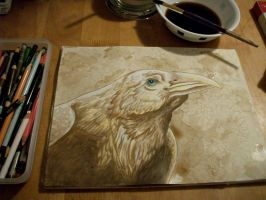 The Coffee Raven - WIP by LunarSymphony