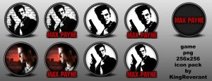 Max Payne 1 png icon pack by KingReverant