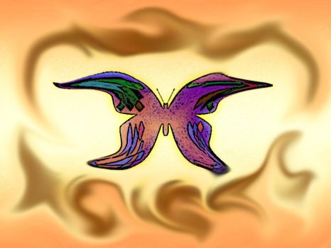 Psychedelic Butterfly by malicia