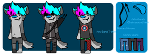 Alex Anthro Refrence Sheet by huskynugget