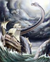 Mythical Creature Tuesday: The Sea Serpent by Aaron-Radney