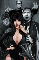 Elvira and Classic Monsters by ErikHodson