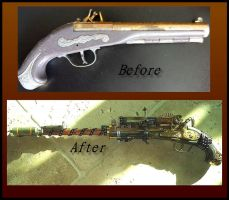 Steampunk Weapon by Catskind