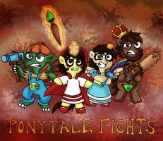 PONYTALE FIGHTS (Contest Entry) by foxgirlKira