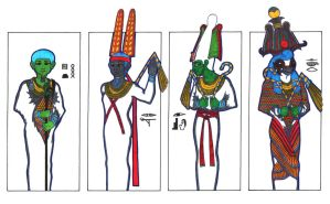 4 hot gods of Ancient Egypt 3 by PolaristheCepheid