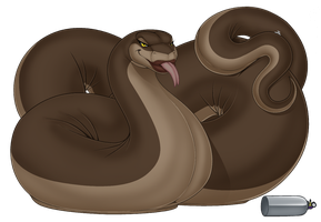 Feral Balloon Snake_near completion :3 by wsache2020