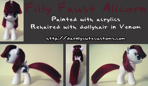 Filly Faust Alicorn by Kanamai