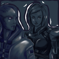 Aria and Shepard by Paizy