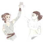 Commission: Star Wars high-five by introvertqueen37