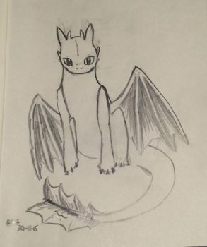 Day 1- Toothless by shasashadrax