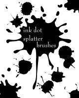 ink dot splatter by Arkangel007