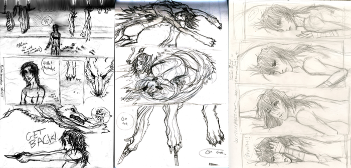 Witch Melt Pages 0,1,2 original pencils by fruitionpaper