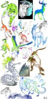 animals and creatures sketches by MariaRuta