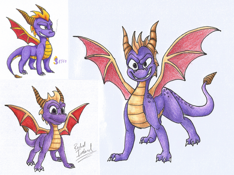 Spyrospyrospyro by Dark-Dragon-Spirit