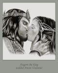aragorn and arwen by sirideain