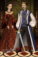 King Jonathan and Queen Thayet by Huntermoon