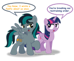 Black Gryph0n loves Twilight by AleximusPrime