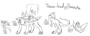 Full Team Leafy Breeze Scetches by BlackDragonArtist