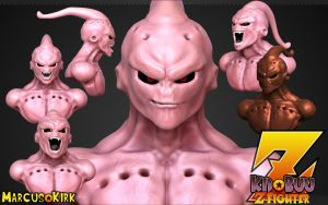 Kid Buu Bust by MarcusKirk