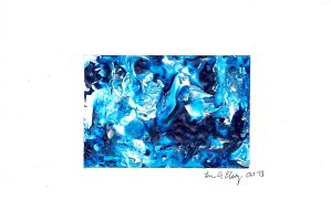 Tiny Abstract Painting No. 1 by Kaziem