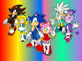 Sonic X Amy, Silver X Blaze and Shadow X Maria by 9029561