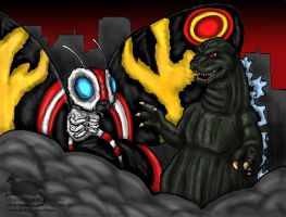 Godzilla and Mothra by Ravenfire5