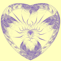 Vintage heart by bunnywithrose