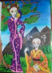 Geishas in the garden by Inami1297
