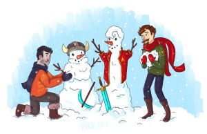 Dumb Snowmen by rbsng