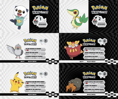Pokemon Black And White DVD Menus (Set 1) by dakotaatokad