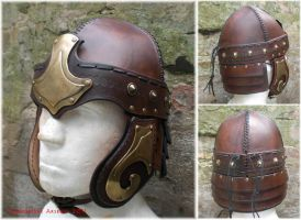 Leather helmet Naaban by baehrserker