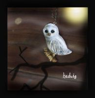 Hedwig, Harry potter necklace by sixAstray