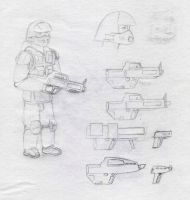 UCF Trooper and Basic Arms by ChapterAquila92