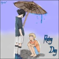 Rainy Day - SASUNARU by LadyAruba