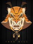 Samurai Tiger Mask by gelipe