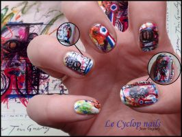 Le Cyclop Nails by JawsOfKita-LoveHim